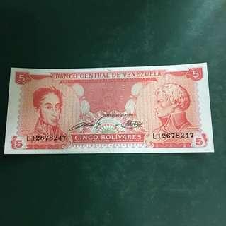 委內瑞拉早期紙鈔,全新直版,#100