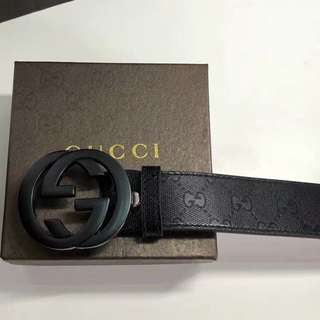 Gucci Matt black Luxury Belt