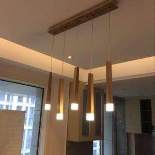 全新木藝吊燈