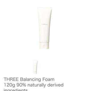 Three balancing foam cleanser