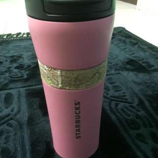 Starbucks Tumblr Pink NEW with Pouch