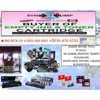 EMPTY INK CARTRIDGES AND TONER HIGHER BUYING PRICE TO YOUR BRAND NEW EXPIRED UNUSED