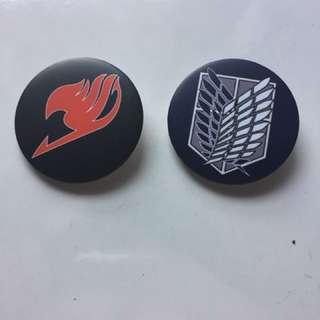 Anime button badge