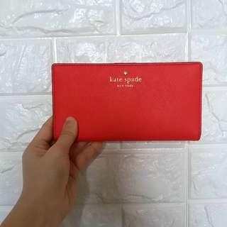 Kate Spade ♠️ 桃紅色銀包