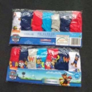 Last few set left !! No more restock!! Instock Paw Patrol underwear authentic 7pcs set size 3-4yrs old