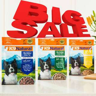 FREE EXTRA TOPPER with K9 Natural Freeze Dried Raw Food Special Promotion