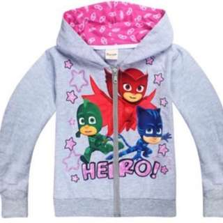 Instock pj mask jacket limited Stock grey-110/120cm and pink -110cm brand new
