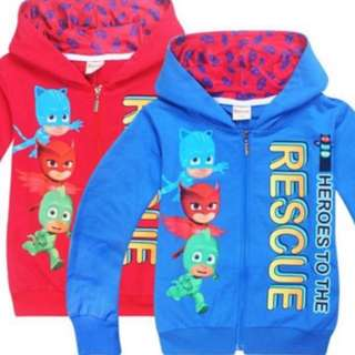Instock pj mask jackets brand new limited stock blue-110/120cm and red -110/120cm