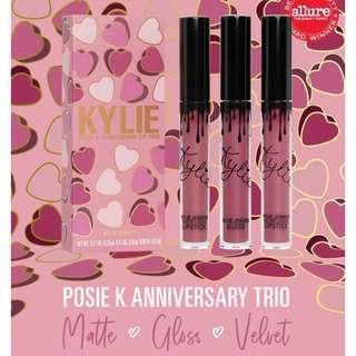 ⭐️Ordered⭐️Kylie Posie K Anniversary Lip Trio