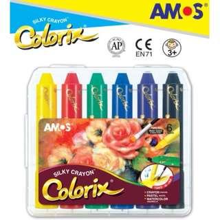 AMOS兒童畫筆🖍 - 6色/12色/24色