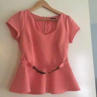 Peach/pink top