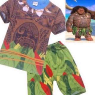 Instock moana maui set brand new size Available For 110-140cm (4-8yrs old )