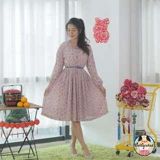 🍿 Vintage Midi Dress VD1158