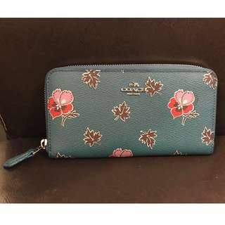 Coach Accordion Zip Wallet In Wildflower Print Coated Canvas (#F15155)