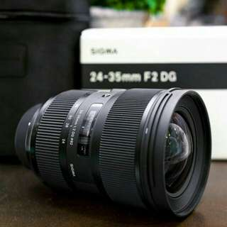 Nikon mount Sigma Art 24-35mm F2 DG