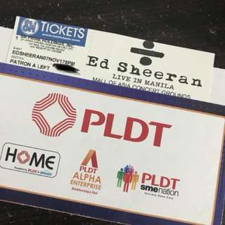 Ed Sheeran #DivideTourMNL Patron A Ticket