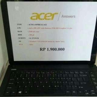 laptop acer aspire e1-422 stiker bsa dilepas.