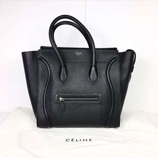 Céline Mini Luggage in Black