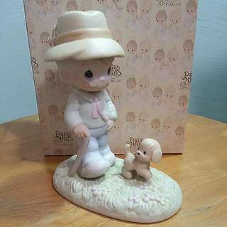 Buy 3 Get 1 Free : Precious Moments Old Man With Puppy Figurine : We Need A Good Friend Through the ruff Times