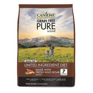 CANIDAE Grain Free Pure Wild Fresh Boar Dry Kibbles Dog Food 1.8kg