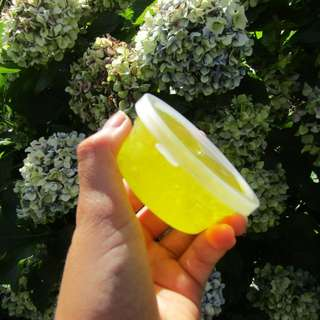 Crystal yellow putty slime