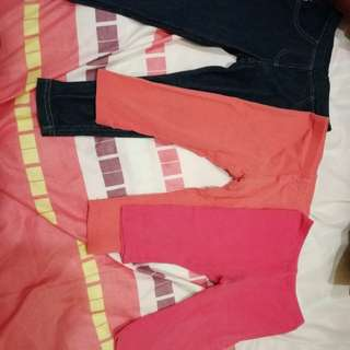 Miki legging pants (girl) 1-3 yrs old (3 pcs)