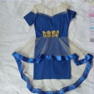 Tile Blue Dress / Gaun / Gown