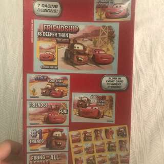 Cars Valentines cards