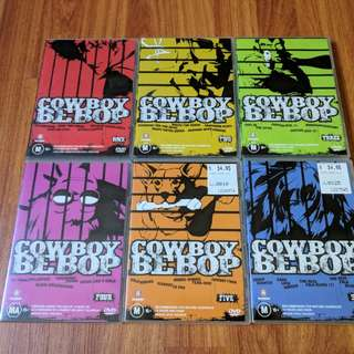 Cowboy Bebop Complete 6 Set Japanese Anime Series with Original DVD-ROM's and Cases