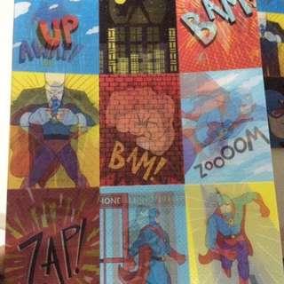 Superhero Valentines card