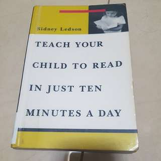 Teach your child to read in just 10 minutes a day