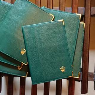 Rolex Green Leather Passport Cover New Old Stock 勞力士