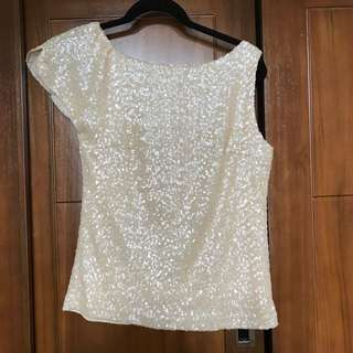 Zara gold sequens blouse