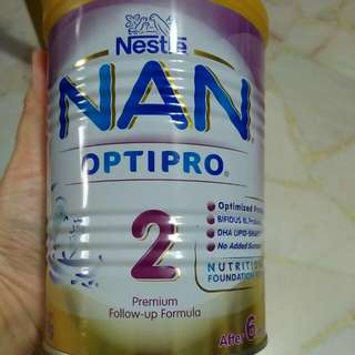 Nan Optipro 2 Premium Milk Powder (after 6mth) 400g Brand New Unopened