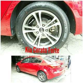Tyre 205/55 R16 Membat on Kia Cerato Forte 🐓 Super Offer 🙋♂️