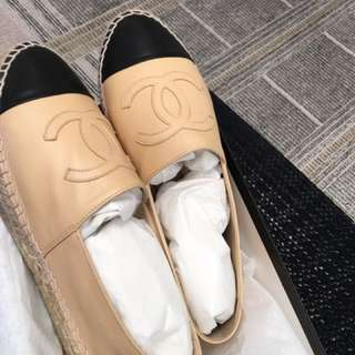 Chanel 漁夫鞋 草鞋 39碼 (購自巴黎總店)