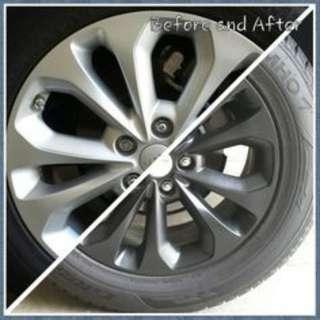 Spray paint CAR RIM @car service