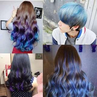 Color hair wax