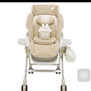 Pre-loved combi multi function baby high chair / rocker