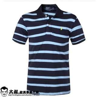 【大叔歐美代購】Polo Ralph Lauren  男仕短襯衫 短袖T恤 橫條短袖 保羅小馬 可分期!美國代購 !
