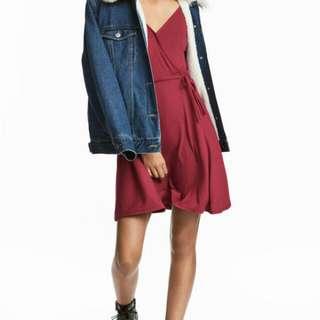 H&M V-neck Dress In Powder Blue