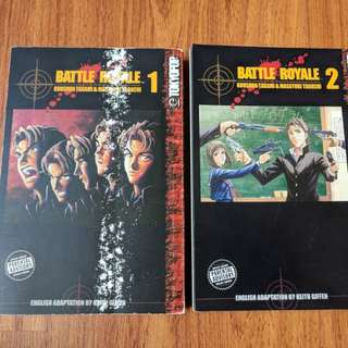 Battle Royale Japanese Manga Series Two Volumes Graphic Action