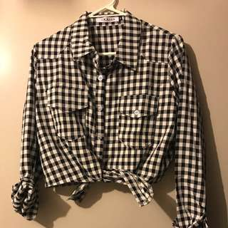 Checkered Cropped top