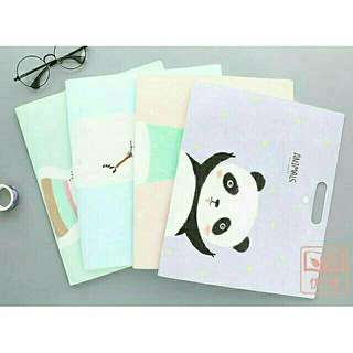 Animals Panda Purple File Folder
