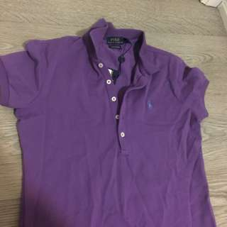 Purple Ralph Laurent polo shirt
