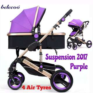 New Belecoo German Design European Air Tyres Stroller / Pram