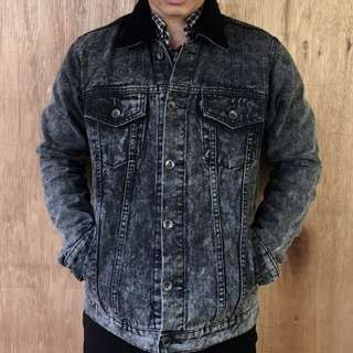 VEARST Original Bonjangles Washed Black Denim Jacket