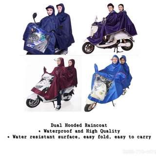 Dual Hooded Raincoat