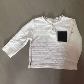 Zara long sleeve white top