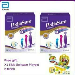 Pediasure 1.8kg Vanilla Box (free suitcase kitchen play set)